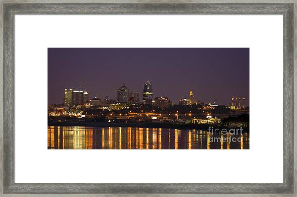 Downtown Reflections Framed Print