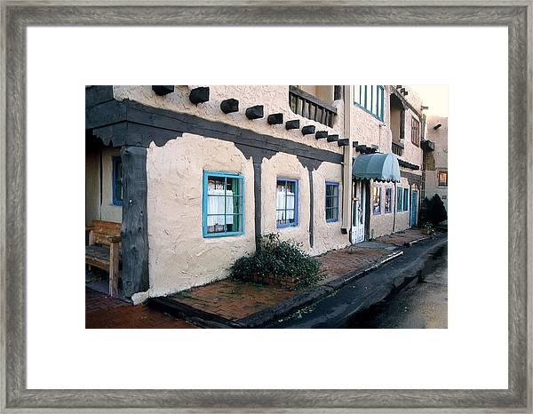 Downtown Santa Fe Framed Print