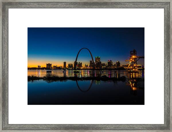 Downtown St. Louis And The Gateway Arch Framed Print