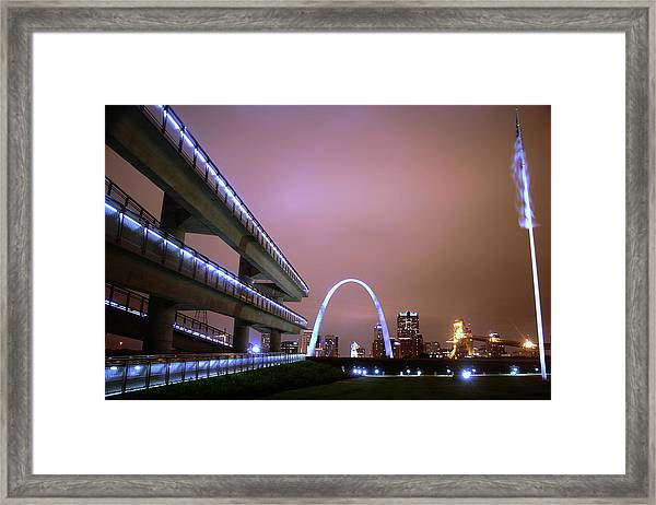 Downtown St. Louis From The East Side Framed Print