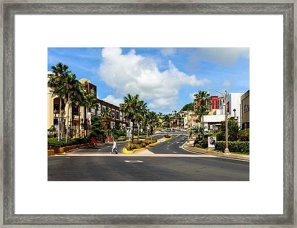 Downtown Tamuning Guam Framed Print