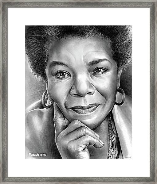 Dr Maya Angelou Framed Print