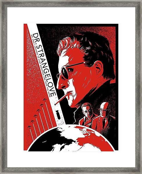 Dr. Strangelove Theatrical Poster Number Three 1964 Framed Print