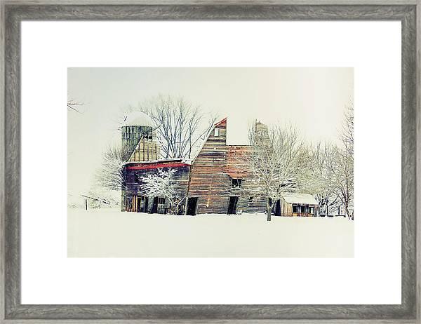 Drafty Old Barn Framed Print