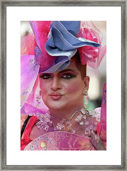 Drag Queen Gay  Pride Parade Nyc 6 27 10 Framed Print