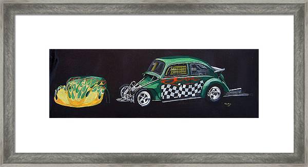 Drag Racing Vw Framed Print