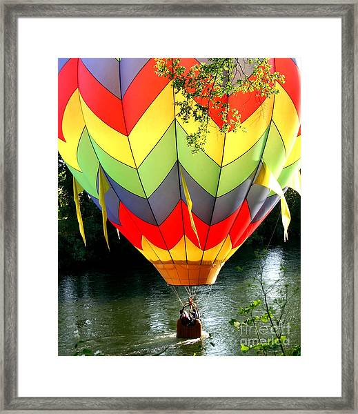 Dragging The Water   Line Framed Print