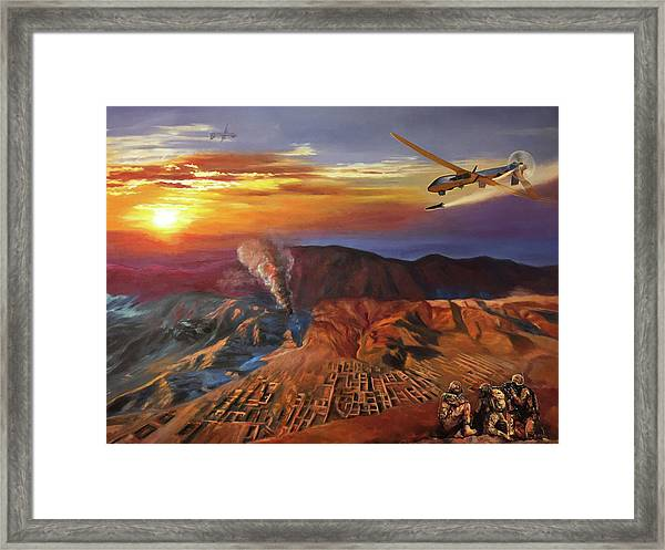 Dragon Dawn Mq1 Predator Framed Print