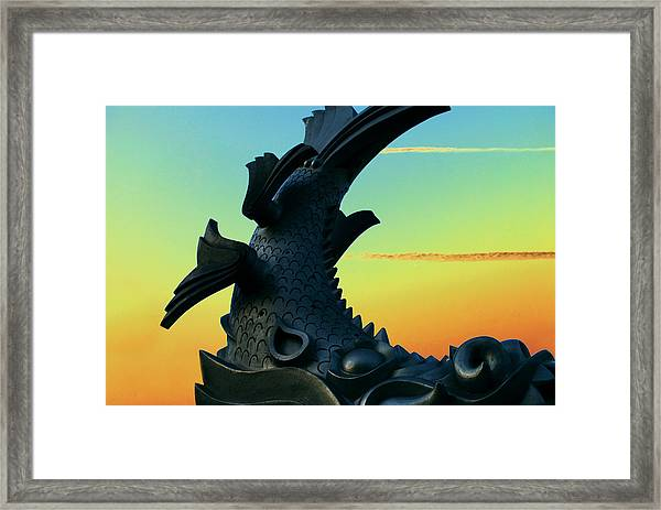 Dragon Fish Framed Print by Courtney Lively
