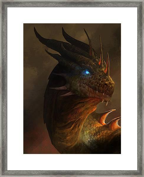 Dragon Portrait Framed Print