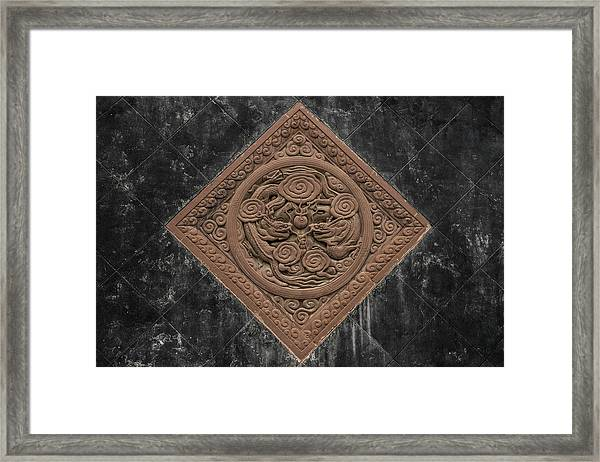 Framed Print featuring the photograph Dragon Seal by William Dickman