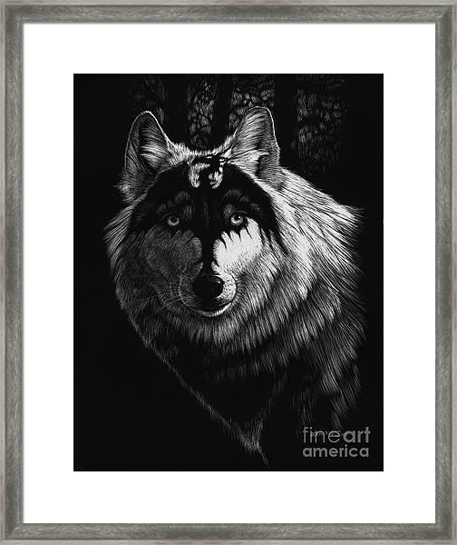 Dragon Wolf Framed Print