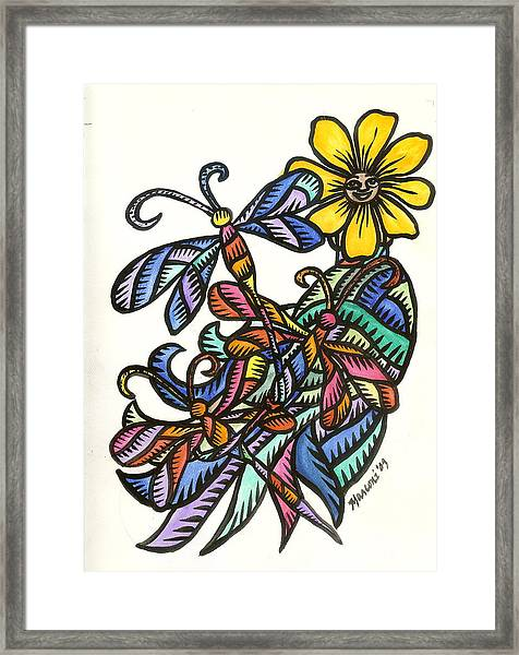 Dragonflies 2009 Framed Print
