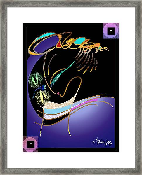 Framed Print featuring the painting Dragonfly Messenger by Larry Talley