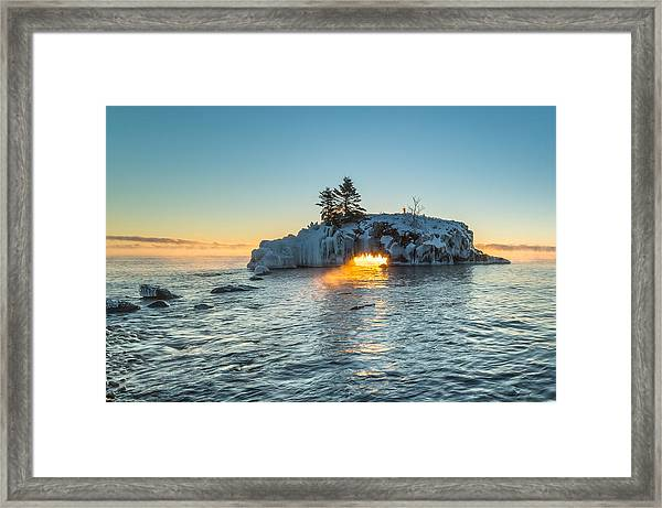 Dragon's Breath  // North Shore, Lake Superior Framed Print