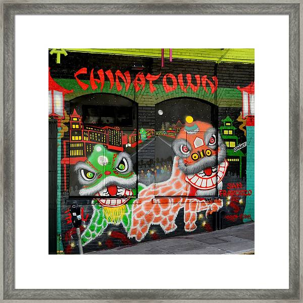 Dragons Of San Francisco Framed Print