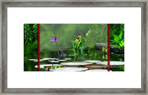 Dragons On The Pond Framed Print