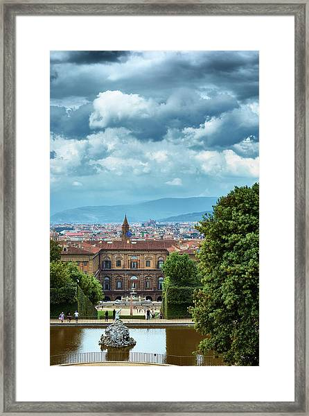 Drama In The Palace Of Firenze Framed Print