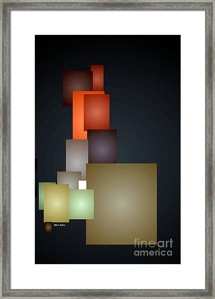 Dramatic Abstract Framed Print