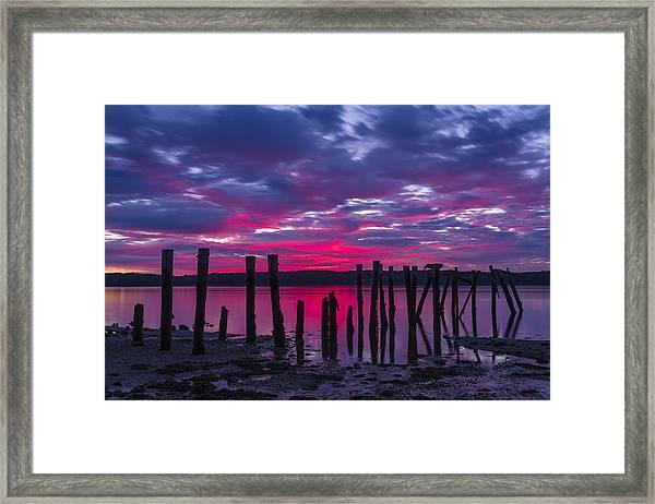 Dramatic Maine Sunrise Framed Print