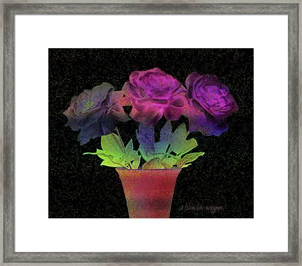 Dramatic Roses Framed Print