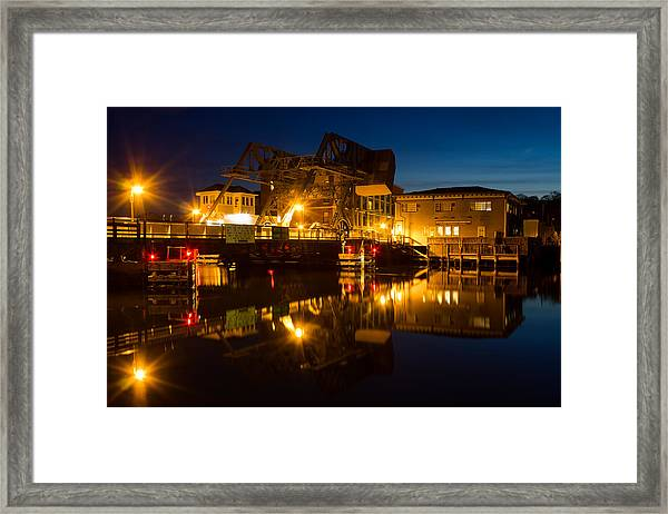 Drawbridge Illuminated  Framed Print