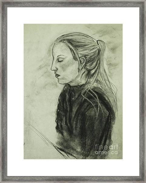 Drawing Of An Artist Framed Print
