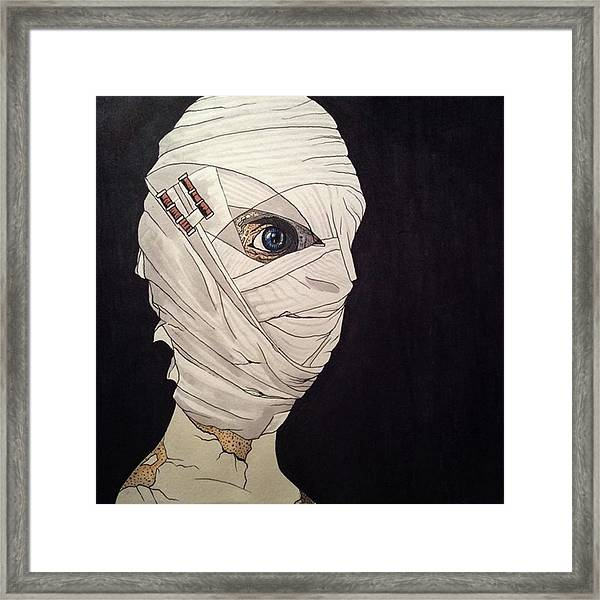 Mummy Monday Framed Print by Russell Boyle