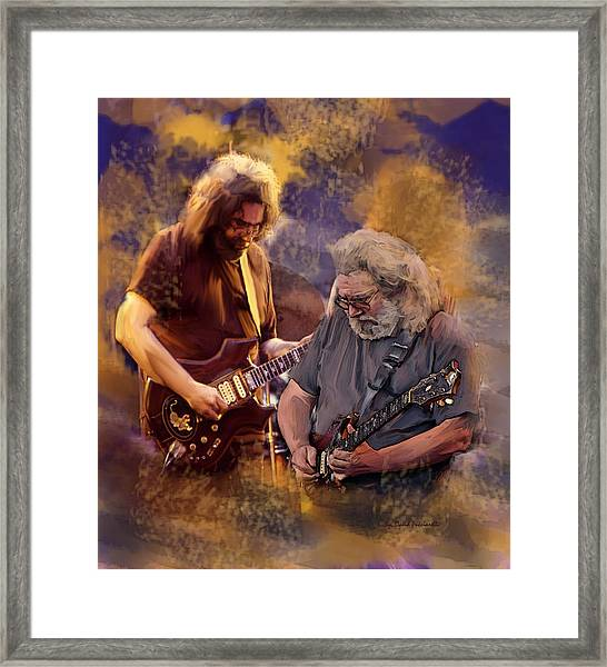 Dream Colors  Jerry Garcia Greatful Dead Framed Print