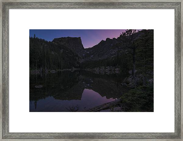 Dream Lake Reflections Framed Print