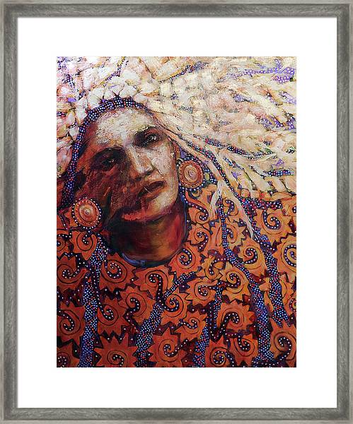 Dream Messenger-ancient Sun Framed Print