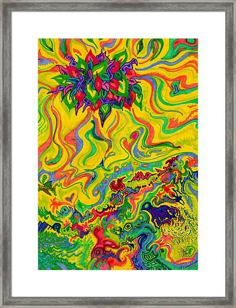 Dream-scaped Swamp Garden 2 Framed Print