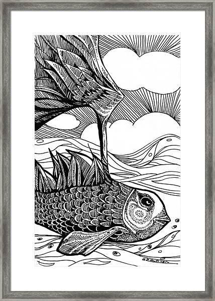 Dreamer Fish Framed Print