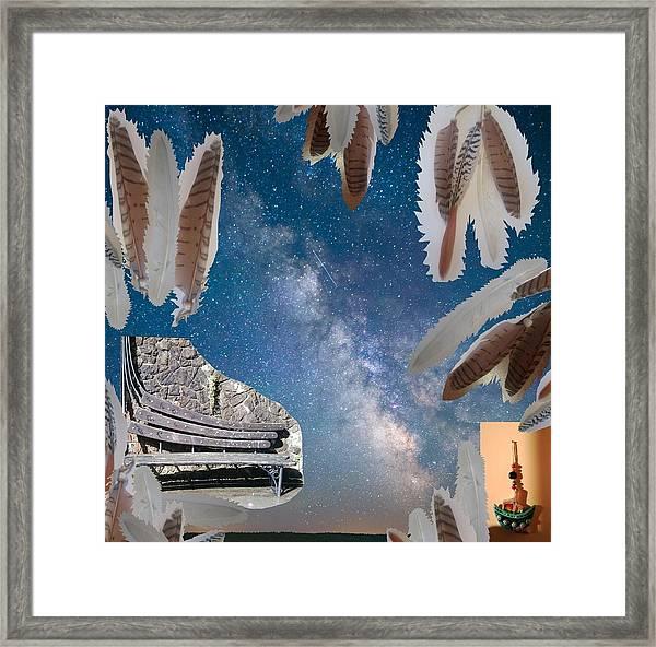 Dreaming Bench Framed Print