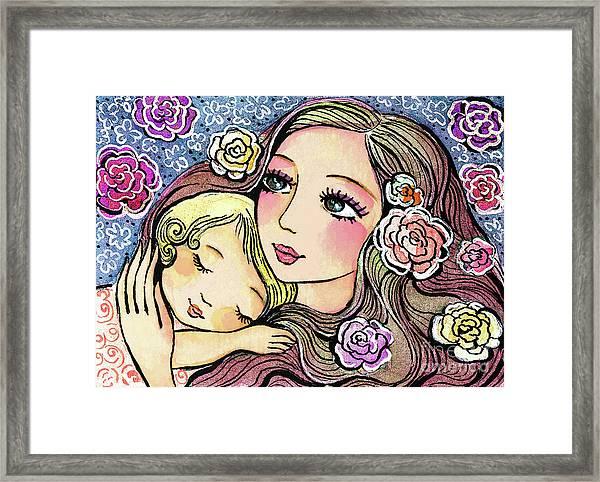 Dreaming In Roses Framed Print