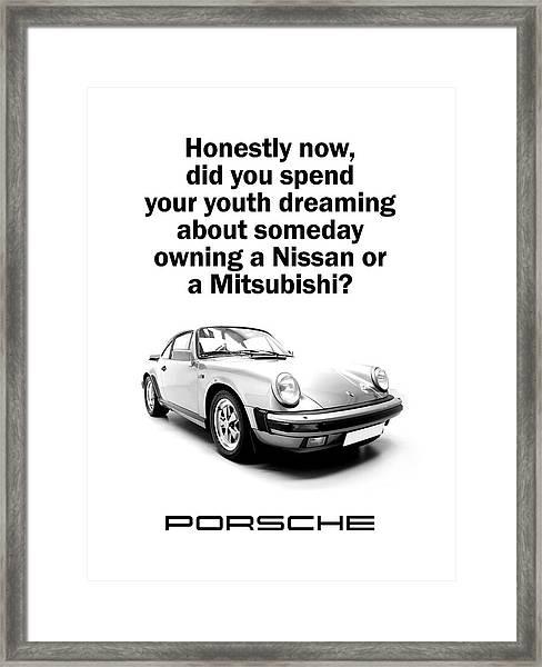 Dreaming Of A Porsche Framed Print