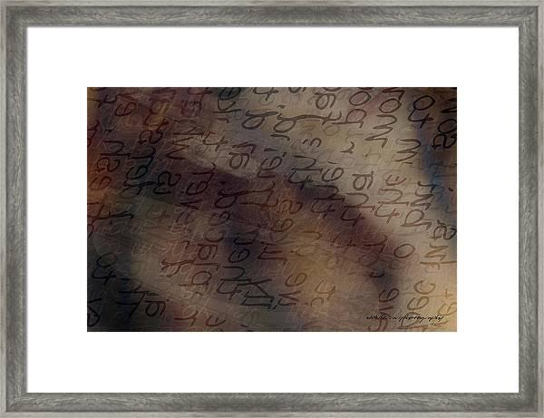 Dreaming Of Words Framed Print