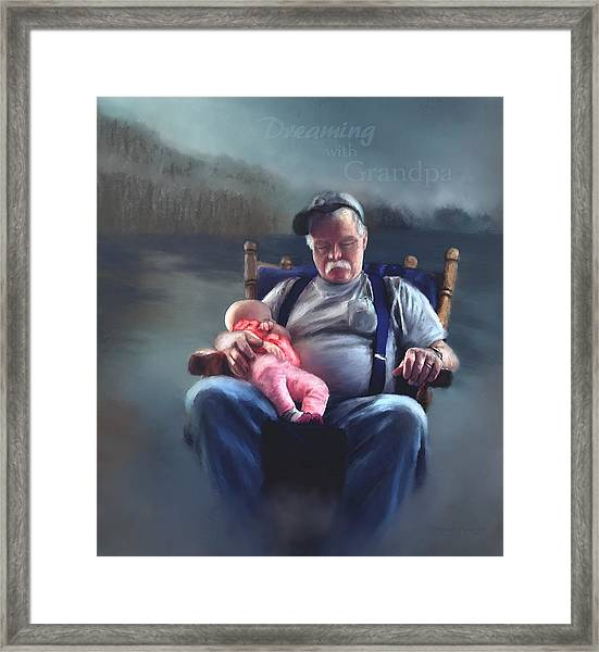 Dreaming With Grandpa Framed Print