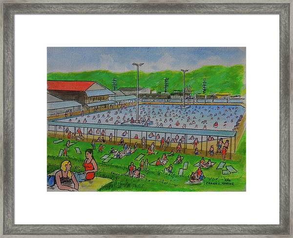 Dreamland Pool Summer 1948 Framed Print
