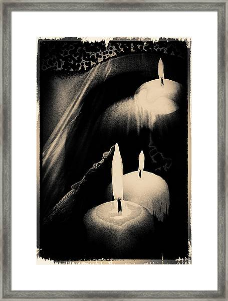 Dreams And Candlelight Framed Print