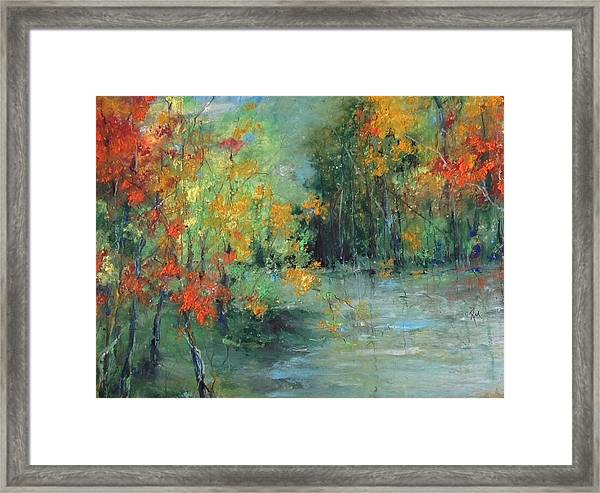 Dreams Of Autumn #1 Paradise On Pontchartrain Framed Print