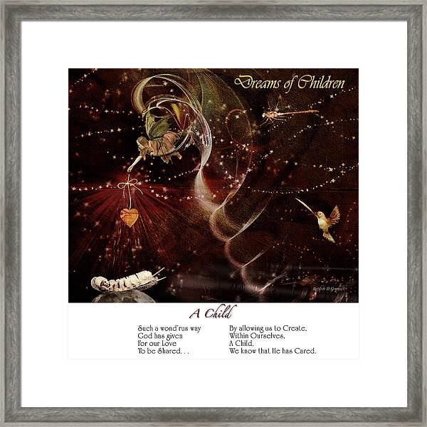 Dreams Of Children Framed Print