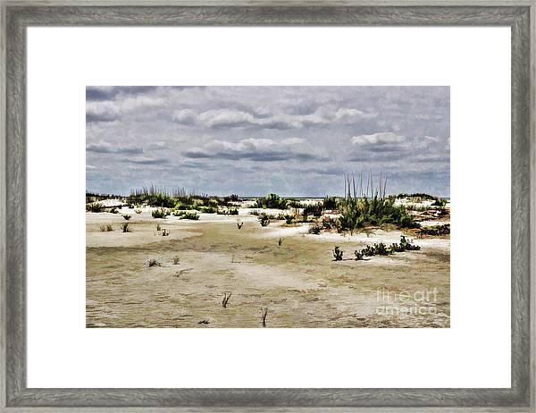 Dreamy Sand Dunes Framed Print