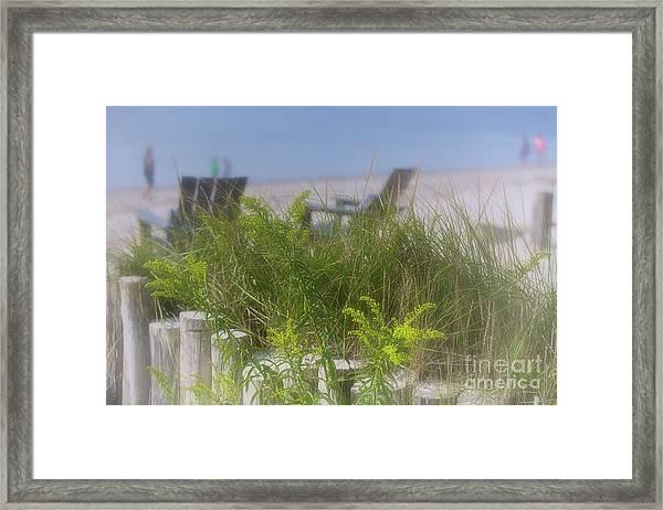 Dreamy Morning Walk On The Beach Framed Print