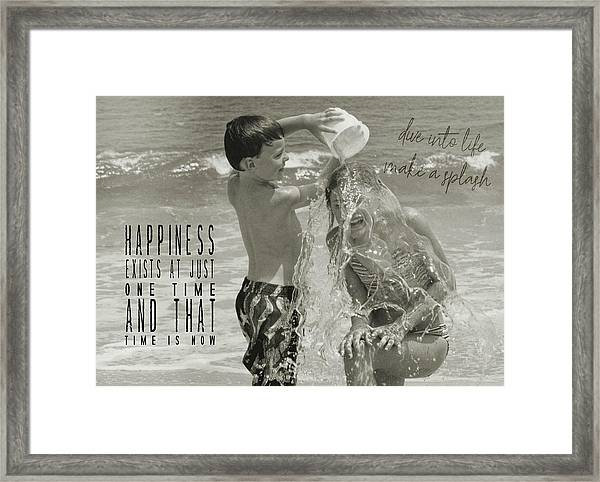 Drenched Quote Framed Print by JAMART Photography