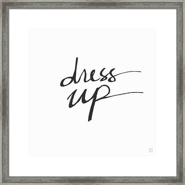 Dress Up- Art By Linda Woods Framed Print