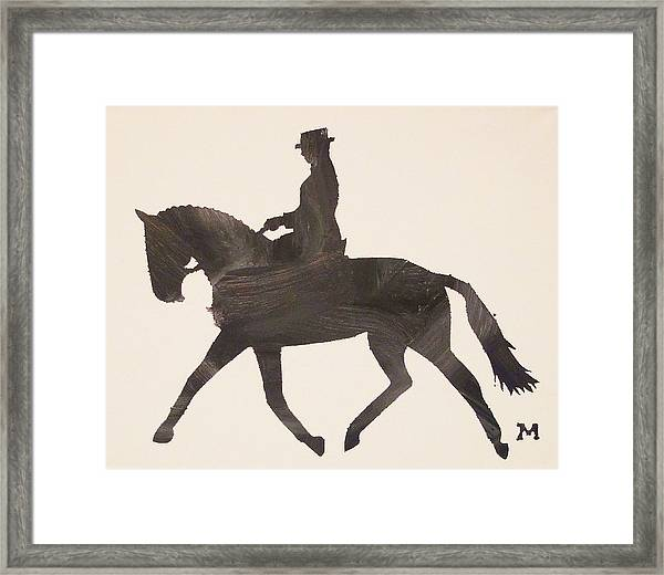 Framed Print featuring the painting Dressage At Downton by Candace Shrope