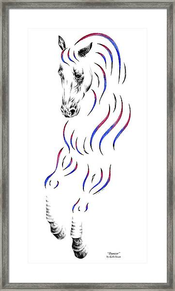 Dressage Horse Dancer Print Framed Print