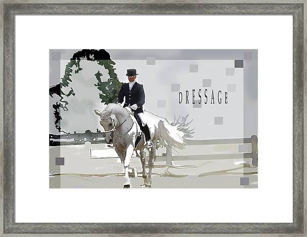 Dressage Framed Print