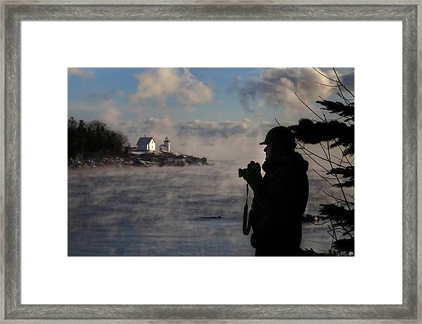 Dressed For Sea Smoke Framed Print